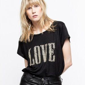 Zadig & Voltaire Meryl Love T-Shirt XS, S
